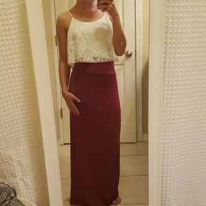 Charlotte Russe Maxi Skirt & Top